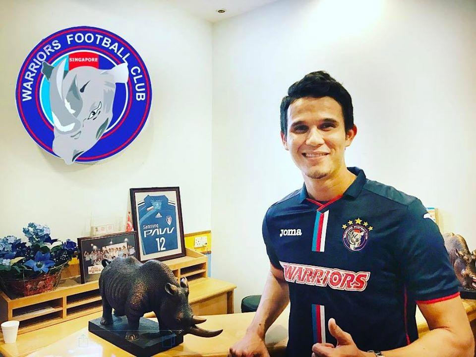Baihakki Khaizan announces his move to Warriors FC via Instagram.