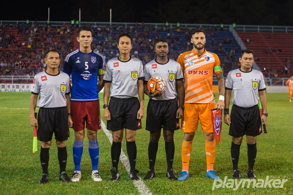 PASIR GUDANG, 2016, AUGUST 05 - Baihakki captained Johor Darul Ta'zim II in a league match against Selangor PKNS.