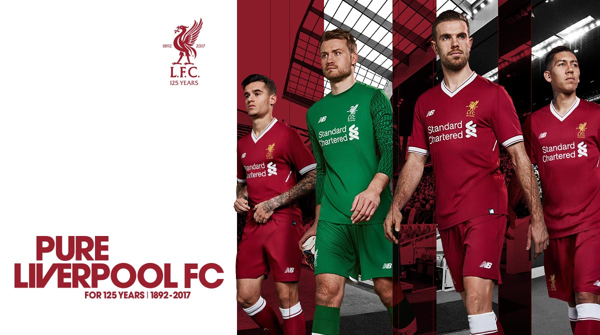 New Balance Reveals Liverpool FC 2017 18 Home Kit for 125th Anniversary Year 3122ede62