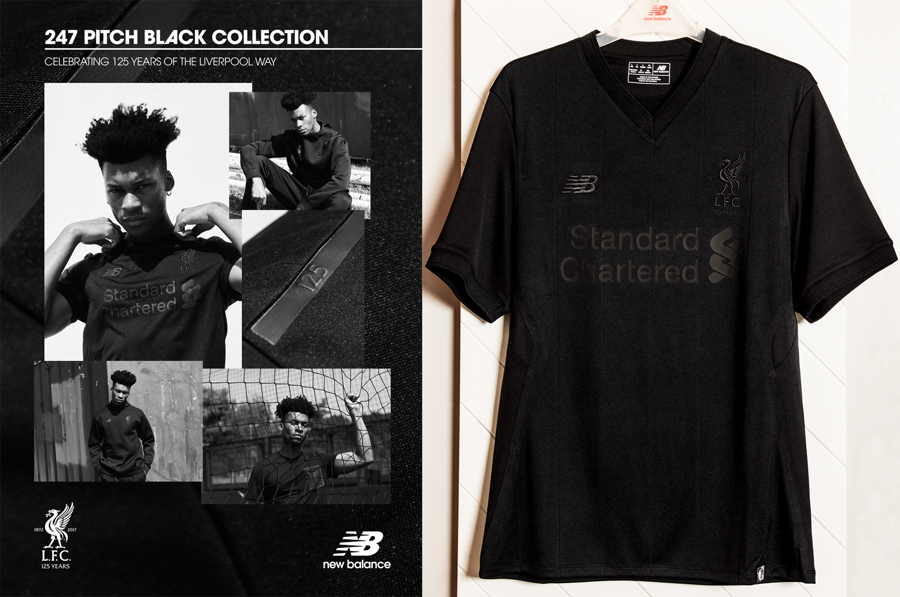 """online store 336a5 c2139 LIVERPOOL UNVEILS """"PITCH BLACK"""" SHIRT TO COMMEMORATE 125 ..."""