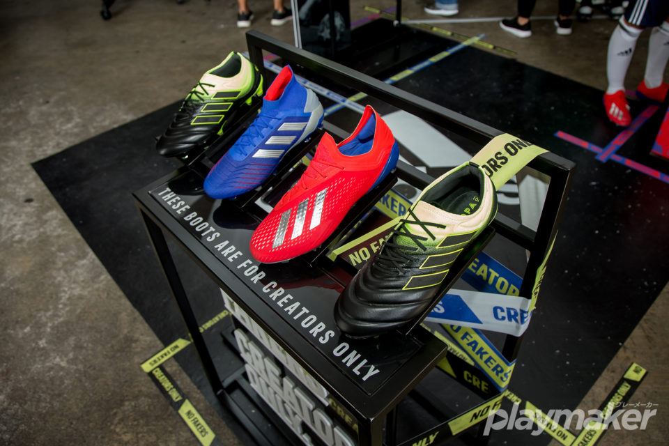db673eae1 The Exhibit Pack (X 18.1 FG, Predator 19.1 FG, Nemeziz 18.1 FG and Copa  19.1 FG) will be available at adidas Suntec, adidas ION, adidas Causeway  Point and ...